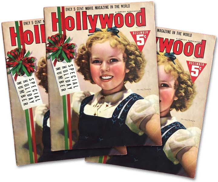 Early Dental Veneers Shirley Temple Hollywood Magazine December 1938 by Dr Pincus creator Hollywood Smile