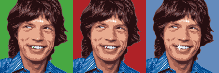 Mick Jagger Emerald Tooth Ruby Tooth Diamond Tooth