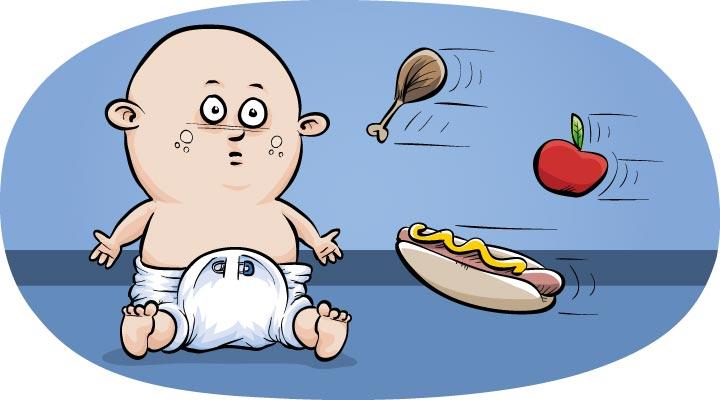 Effects of diet on children's jaw development and brain development